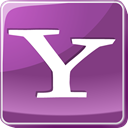 Logo, yahoo, search engine, square, Social, media, social media DimGray icon