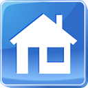 interface, house, buildings, Home RoyalBlue icon