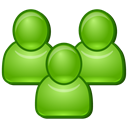 Users, group, team, Customers, people, Clients, staff, workers, friends, Command, men, managers YellowGreen icon