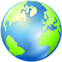 Browser, planet, world, earth, global, globe CornflowerBlue icon