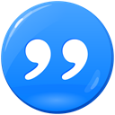 quotation, quote, inverted commas, Citation, quotes DodgerBlue icon