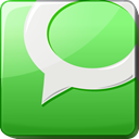 Message, Chat, announcement, hint, square, Bubble, media, social media, forum, vert, statement, talk, Logo, about, report, Social, verdancy, green, Information, Technorati, Communication, new Icon