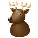 x-mas, reindeer, christmas, new, rudolph, deer, year, rudolf Black icon
