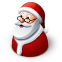 claus, winter, christmas, father frost, santa Black icon