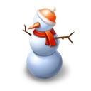 snowman, profile, Cold, winter, snow man, christmas, Snow Black icon
