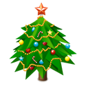 new, Tree, christmas, year, newyear tree Black icon
