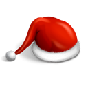hat, christmas, claus, Cap, santa Black icon