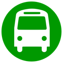 transportation, Bus Green icon