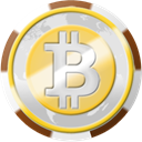 Chip, coinsphere, Bitcoin, Casino Gainsboro icon
