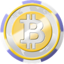 Casino, Bitcoin, coinsphere, Chip Gainsboro icon