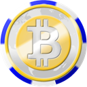coinsphere, Chip, Bitcoin, Casino Gainsboro icon