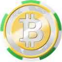 Chip, coinsphere, Casino, Bitcoin Gainsboro icon
