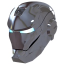 helmet, silver, male, iron, Devil, Mask, ironman, evil, Man DimGray icon