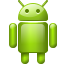 Android, base, robot, search, r Black icon