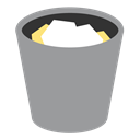 Trash, Full, appicns DarkGray icon