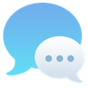 messages, Chat SkyBlue icon