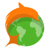 Browser, dolphin LimeGreen icon