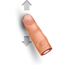 Gesture, Slide Black icon