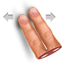 Gesture, swipe, Finger, horisontally, two Black icon