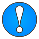 sign, exclamation DodgerBlue icon