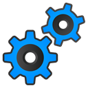 gears Black icon