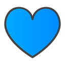 Heart DodgerBlue icon