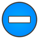 Minus, sign DodgerBlue icon
