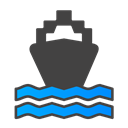 ship DarkSlateGray icon
