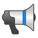 bullhorn Black icon