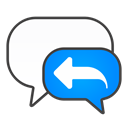 reply, Chat Black icon