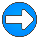 right, Circle, Arrow DodgerBlue icon