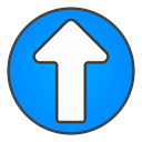 Up, Circle, Arrow DodgerBlue icon