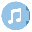 music SkyBlue icon