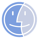 Finder, w CornflowerBlue icon