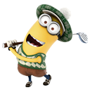 Golf, minion, playing DarkGray icon