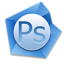 photoshop, adobe Black icon