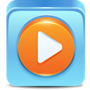 media, player SkyBlue icon