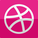 dribbble MediumVioletRed icon