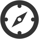 compass DarkSlateGray icon