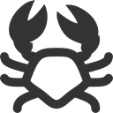 Crab DarkSlateGray icon
