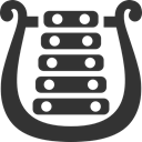 bell, lyre DarkSlateGray icon