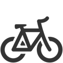Bicycle DarkSlateGray icon