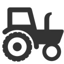 tractor DarkSlateGray icon