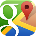 Maps, google RoyalBlue icon