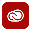 Metroui, Cloud, adobe, creative DarkRed icon