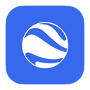 google, earth, Flurry RoyalBlue icon