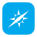Metroui, safari DeepSkyBlue icon