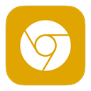 google, Canary, Metroui Orange icon