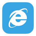 Explorer, internet, Metroui, 8 DodgerBlue icon