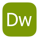 adobe, Metroui, dreamweaver Olive icon